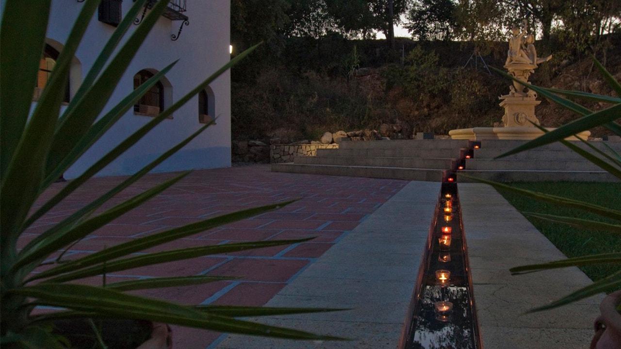 Tealight trail